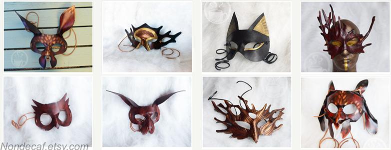 Nondecaffeinatedart leather costume masks at Freakyelegant.png