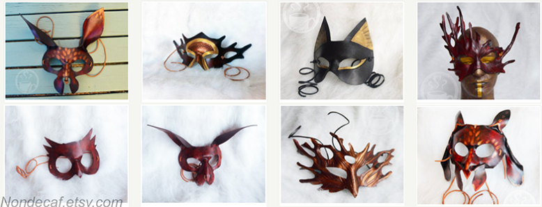 Nondecaffeinatedart leather costume masks at Freakyelegant.png