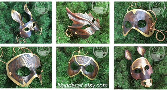 Nondecaffeinatedart leather costume masks