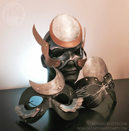 A set of three Leather Masks made for the 2017 Total Solar Eclipse