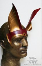 anubis headdress in red