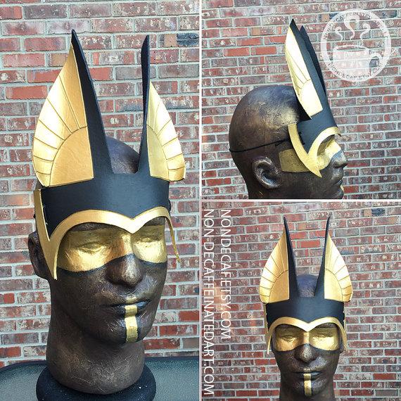 photo showing an anubis inspired headdress