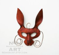 brown hare leather mask