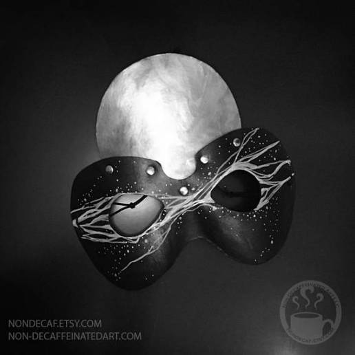 Leather Costume Moon mask