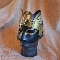 Leather Costume mask with cobra crown