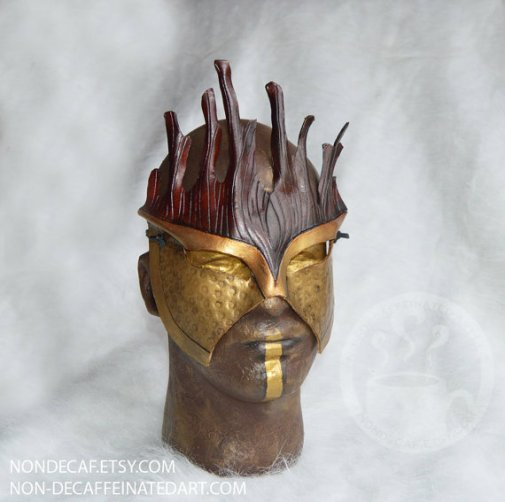 Photo of a Gold and brown mask