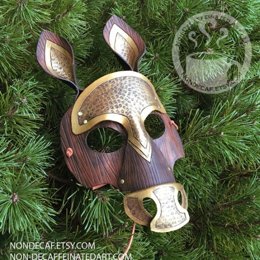 Photo of a Gold Horse Mask