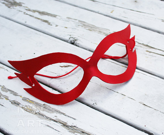 Red Sailor V Leather Mask by Non-Decaffeinated Art