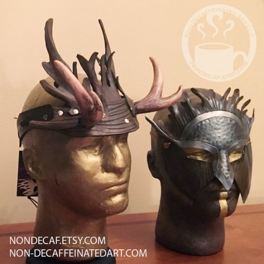 royal stag headdress and druid mask