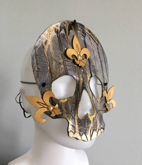 Photo of a Skull Mask made from leather