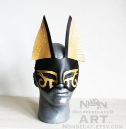 small anubis leather half mask