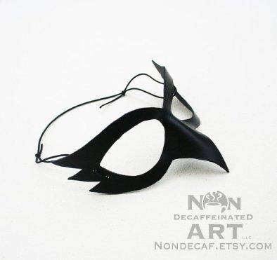 Photo of a simple black bird mask