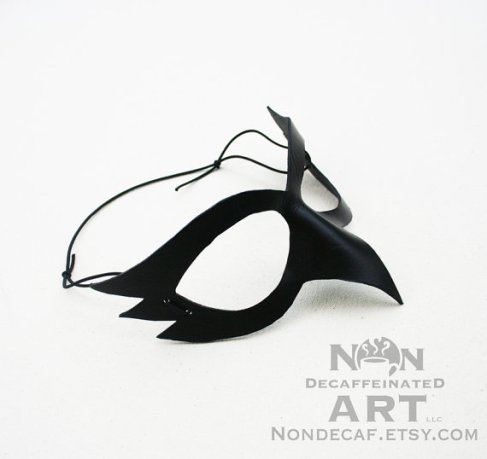 Photo of a simple black bird mask