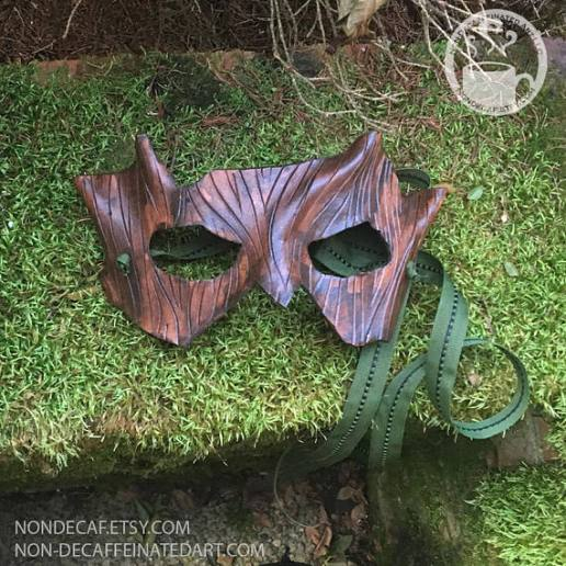 Photo of a Bark texture Leather Mask