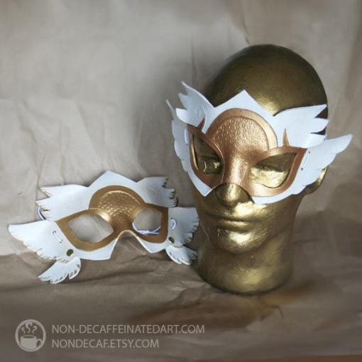 Photo of two Winged Valkyrie Masks