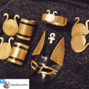 Set of Egyptian-styled costume pieces