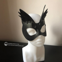 black cat leather mask by nondecafart