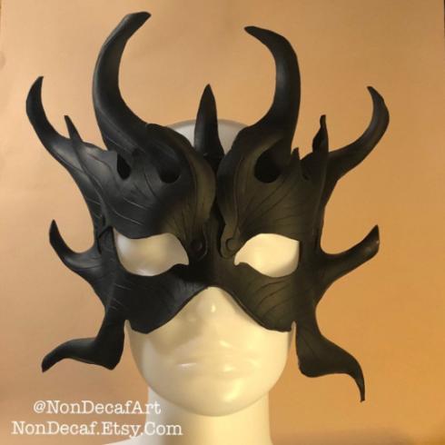 black dragonleather mask by nondecafart