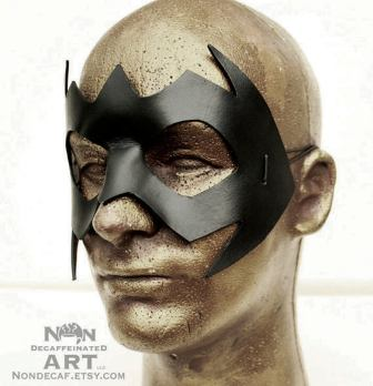 Leather bat mask by nondecaf