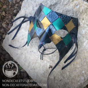 Leather carnival mask by nondecaf