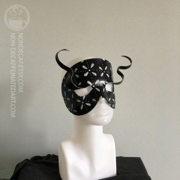 Leather eyelash mask by nondecafart