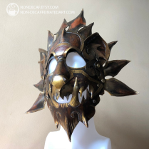 Leather lion mask by nondecafart