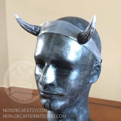 resin horn headband by nondecafart