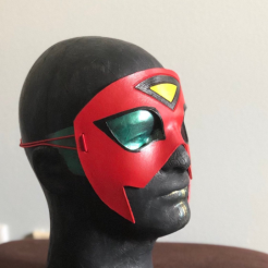spiderwoman leather mask by nondecafart